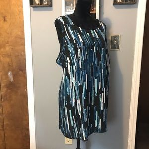 Abstract striped tunic top